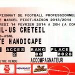 Billet Nancy-Créteil - Saison 2013-2014 - L2 (24e j., 14/02/2014)