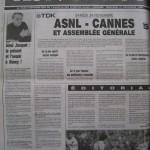 Programme Nancy-Cannes - Saison 1990-1991 – D1 (17e j., 24/11/1990) - Supplément à L'Est républicain du 21/11/1990