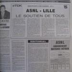 Programme Nancy-Lille - Saison 1990-1991 – D1 (19e j., 09/12/1990) - Supplément à L'Est républicain du 06/12/1990