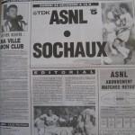 Programme Nancy-Sochaux - Saison 1990-1991 – D1 (21e j., initialement programmé le 22/12/1990 mais finalement reporté pour cause de terrain ennneigé) - Supplément à L'Est républicain du 19/12/1990