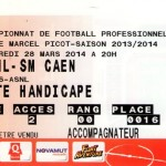 Billet Nancy-Caen - Saison 2013-2014 - L2 (30e j., 28/03/2014)