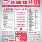 Feuille de match saison 2014-2015 Journée n°01 Dijon