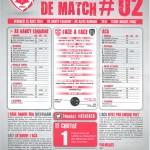 Feuille de match saison 2014-2015 Journée n°02 Arles