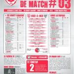 Feuille de match saison 2014-2015 Journée n°03 Nîmes