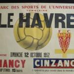 Affiche FC Nancy - Le Havre - saison 1952 1953