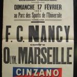 Affiche FC Nancy - Marseille saison 1951-1952