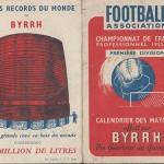 Calendrier FC Nancy saison 1952 1953