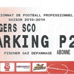 Parking Angers - saison 2013 2014