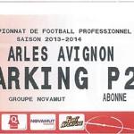 Parking Arles Avignon - saison 2013 2014