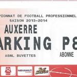 Parking Auxerre - saison 2013 2014