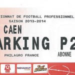 Parking Caen - saison 2013 2014