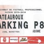 Parking Châteauroux - saison 2013 2014