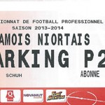 Parking Chamois Niortais - saison 2013 2014
