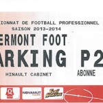Parking Clermont - saison 2013 2014