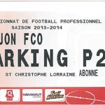 Parking Dijon - saison 2013 2014