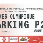 Parking Nîmes Olympique - saison 2013 2014