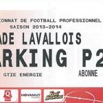 Parking Stade Lavallois - saison 2013 2014
