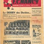 Programme FC Nancy - Metz - saison 1952 1953