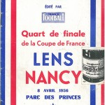 Programme Lens - FC Nancy - saison 1955-1956 Coupe de France