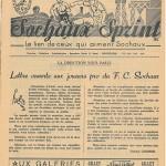 Programme Sochaux FC Nancy saison 1955 1956 14eme journée