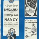 Programme saison 1954 1955 - Strasbourg Nancy FC 12-12-1954