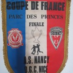 Fanion Finale Coupe de France saison 1977 1978 - Nancy - Nice