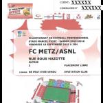 Contre marque retransmission écran géant Metz-Nancy - Saison 2015-2016 - L2 (7e j., 18/09/2015)