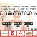 Billet Nancy Niort Saison 2015-2016 L2 6ej 11-09-2015