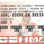 Billet Nancy Bourg Peronnas - Saison 2015-2016 - L2 (12e j 23:10:2015)