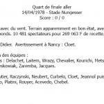 Quart aller - Valenciennes