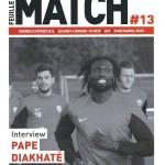 Feuille de match saison 2015-2016 Journée n°25 Metz