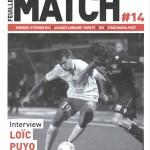Feuille de match saison 2015-2016 Journée n°27 Paris FC