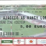 Billet Ajaccio Nancy - Saison 2015-2016 - L2 (28e j 05-03-2016)