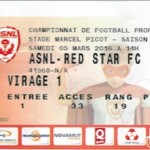 Billet Nancy Red Star - Saison 2015-2016 - L2 (29e j 05-03-2016)