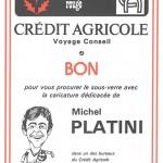 Bon sous verre Platini