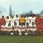 carte postale d'equipe 1974 1975