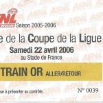 Billet de train finale de la Coupe de la Ligue
