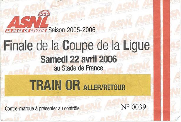 Coupe de la ligue 2005 2006 - Finale de la coupe de la ligue ...