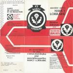 Carte membre associé 1974 1975