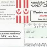 Carte membre associé 1981 1982
