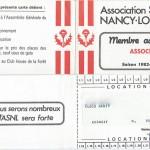 Carte membre associé 1982 1983