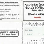 Carte membre associé 1984 1985