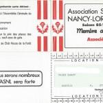 Carte membre associé 1985 1986