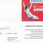Carte membre associé 1990 1991