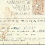 Carte membre donateur saison 1969 1970