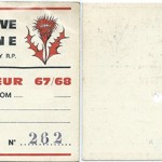 Carte membre supporteur 1967 1968