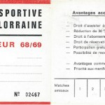Carte membre supporteur 1968 1969