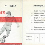 Carte membre supporteur 1969 1970