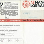 Carte membre supporteur 1970 1971