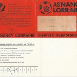 Carte membre supporteur 1971 1972